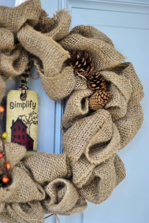 Burlap Wreath by Little Cottage of Mine