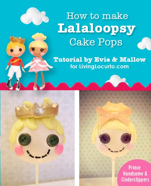 Sep-by-step instructions on how to make Lalaloopsy Cake Pops! LivingLocurto.com #cakepops