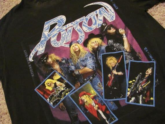 Poison Vintage 1988 Concert T-Shirt