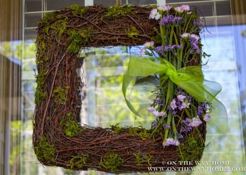 Spring Wreath from On the Way Home