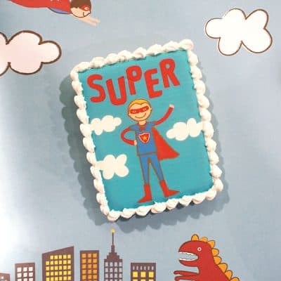 Superhero Birthday Party Cookies