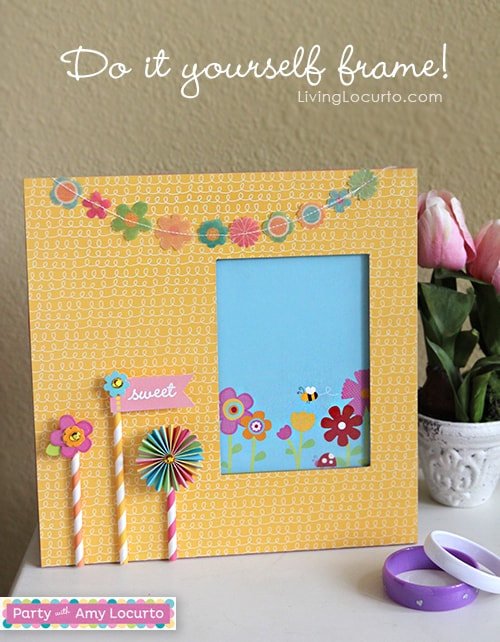 Diy scrapbook frame craft tutorial solutioingenieria Gallery