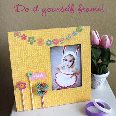 DIY Scrapbook Frame Craft {Tutorial}