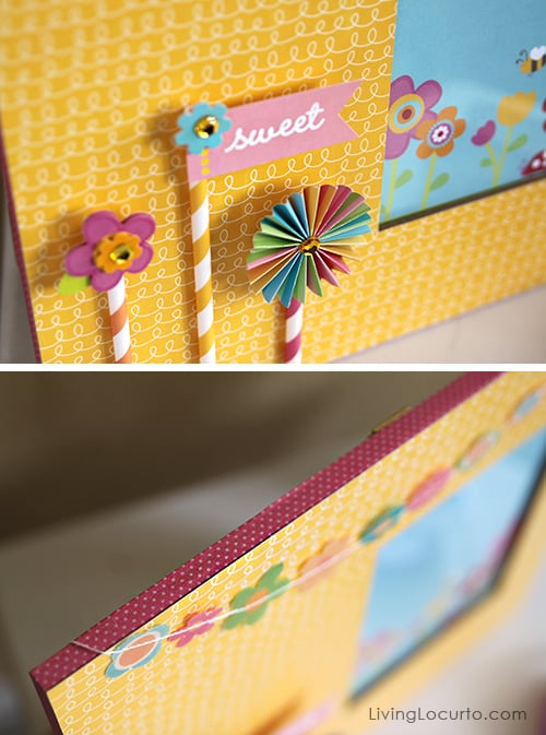 Diy Scrapbook Frame Craft