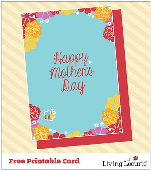 Free Printable Mother's Day Card by LivingLocurto.com