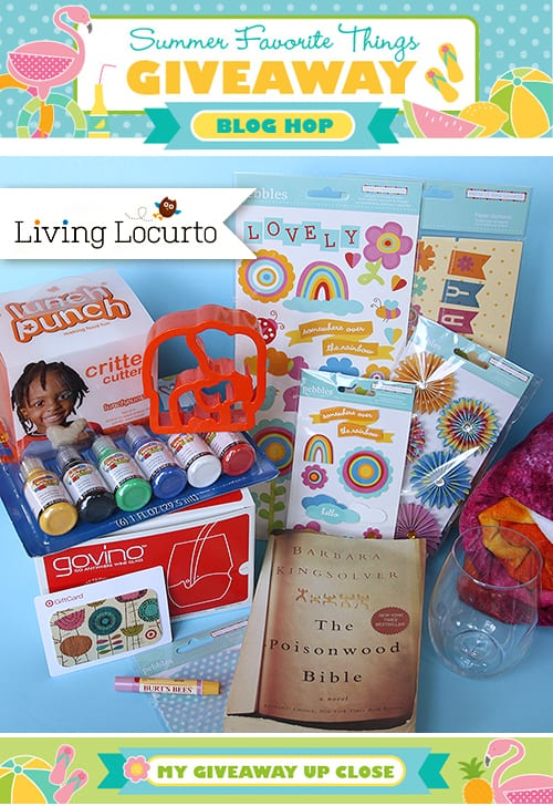 BIG Summer Favorites Giveaway! 20 Bloggers  Blog Hop livinglocurto.com