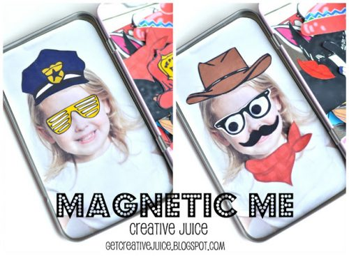 6 DIY Gift Ideas & Crafts! DIY Magnetic Me Photo Game by Creative Juice