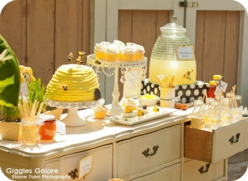 Just BEE-cause Bee Themed Tea Party by Giggles Galore