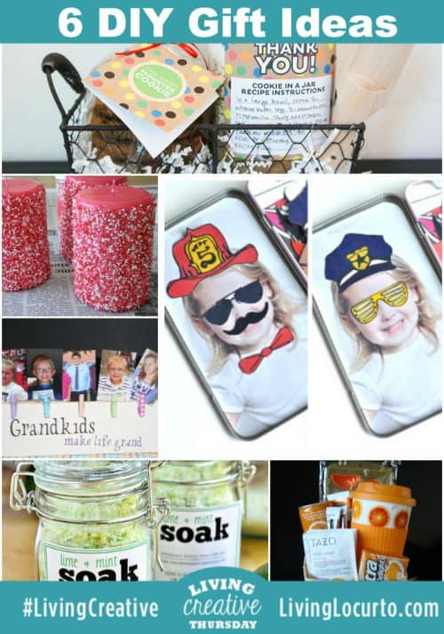 6 DIY Gift Ideas & Crafts for #LivingCreative Thursday from LivingLocurto.com