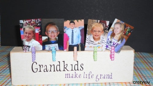 6 DIY Gift Ideas & Crafts! Wooden Photo Block Craft by Crazylou Creations