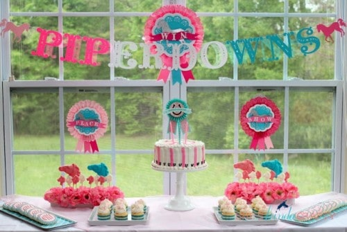 Horse Race Girl Party Idea by She's {kinda} Crafty