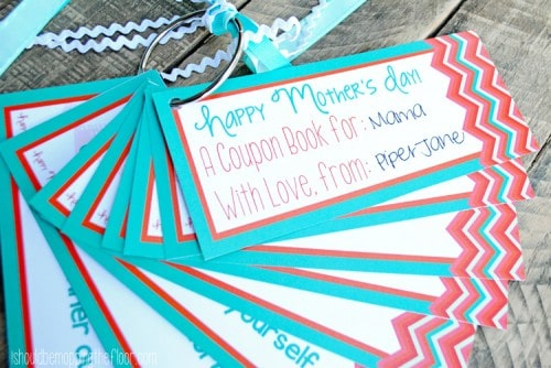 Mother's Day Coupon Book Free Printable from I Should Be Mopping The Floor