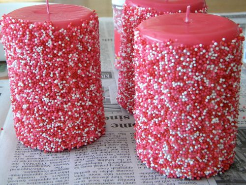 6 DIY Gift Ideas & Crafts! Sprinkle Candles by Sweet Pea Lifestyle