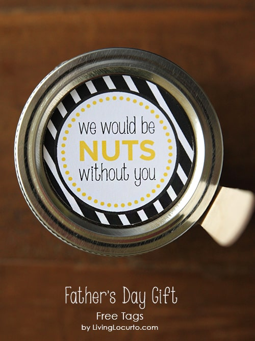 Father's Day Gift - Chocolate Dessert in a Jar with Free Printables by LivingLocurto.com