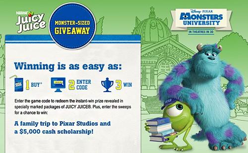 Monster University & Juicy Juice College Adventure Giveaway! LivingLocurto.com #giveaway