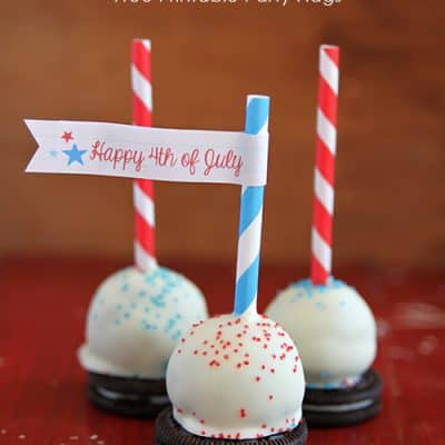 Oreo Cake Balls with Free Party Printables