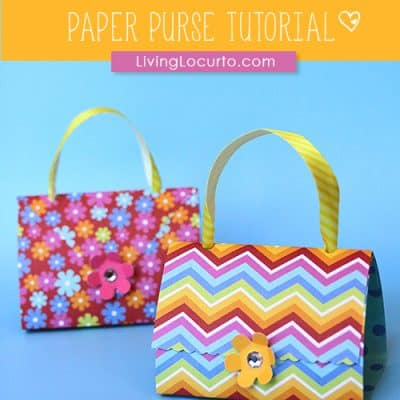 paper purse craft tutorial