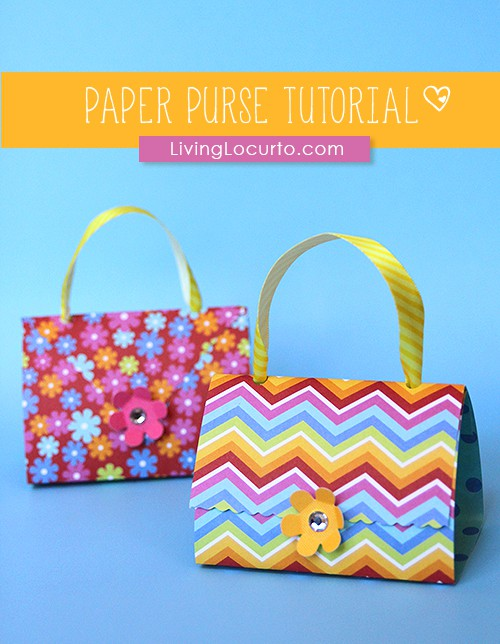 Paper Purse Party Favors Craft Tutorial How To Make A Simple
