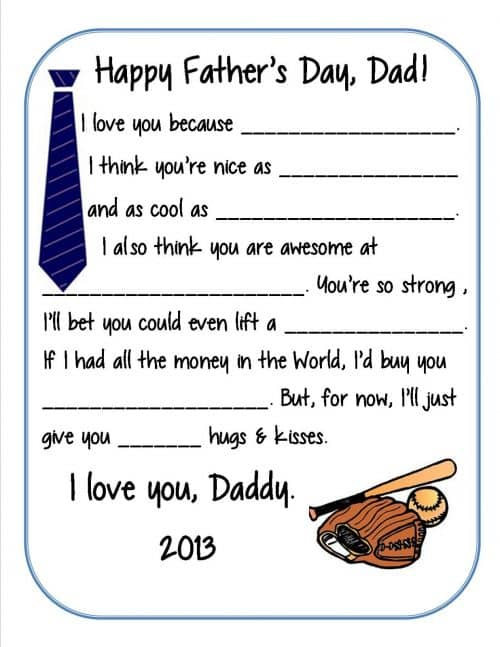 Free Printable Father's Day Survey from Crazylou Creations - Fathers Day DIY Ideas for Living Creative Thursday on LivingLocurto.com #livingcreative