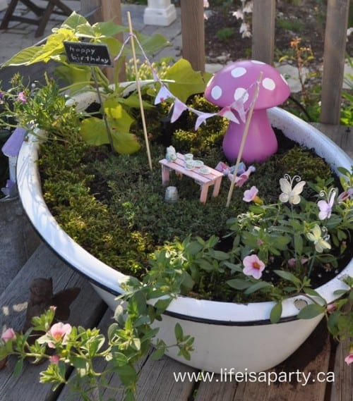 Fairy Garden Birthday Party from Life is a Party - Home and Garden DIY Ideas for Living Creative Thursday on LivingLocurto.com