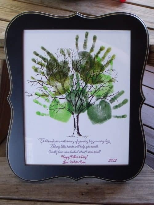 Father's Day Kids Handprint Keepsake Family Tree Art. Celebrate Dad with these easy Father's Day Gifts! Get free printables, recipes, crafts and simple homemade last minute gift ideas for men.