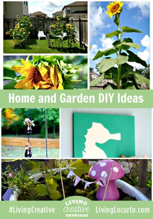 Home and Garden DIY Ideas for Living Creative Thursday on LivingLocurto.com