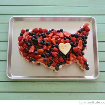 Easy 4th of July USA Cake