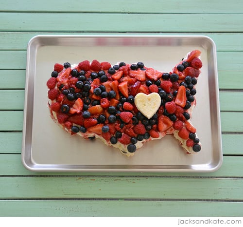 Easy 4th of July USA Cake by Jacks & Kate | Red White & Blue Dessert Recipe