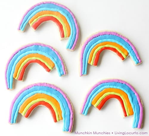 How to make Rainbow Cookies. Adorable Sugar Cookie Recipe for a Rainbow Party