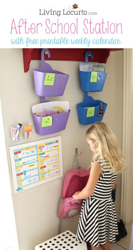 After School Station with Free Printable Weekly Calendars LivingLocurto.com