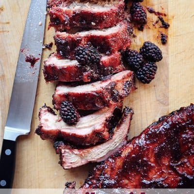 BBQ Ribs with Blackberry Sauce