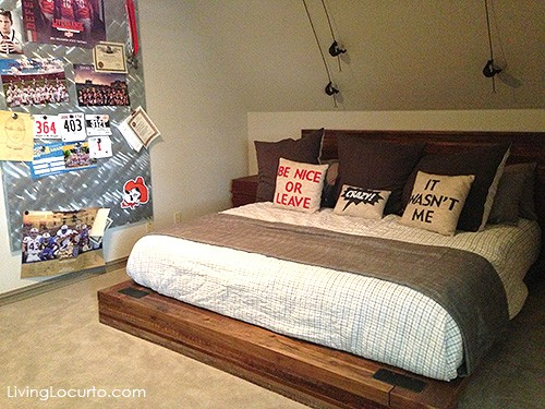 Love this boy's room! Get great decorating ideas from this gorgeous home. LivingLocurto.com