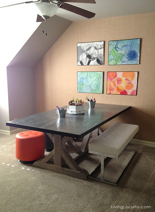 Modern Craft Room. Get great decorating ideas from this gorgeous home. LivingLocurto.com