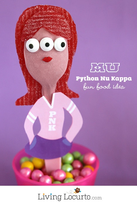 Python Nu Kappa {PNK} Monsters University Candy Spoon Birthday Party Treats LivingLocurto.com