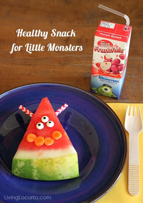 Healthy Snack Idea for Kids - Juicy Juice & Monster Watermelon