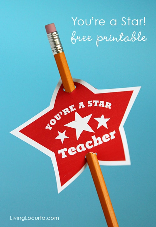 DIY Teacher Gift with Free Printable Tags. Kids Craft by Livinglocurto.com