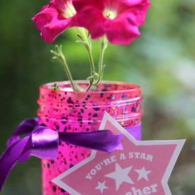 DIY Teacher Gift in a Jar {Free Printable}