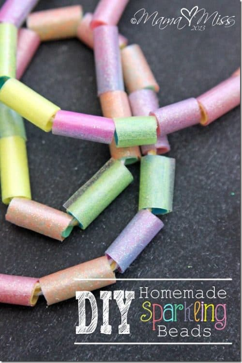 Kids Craft Ideas: DIY Sparkle Beads by Mama Miss for #LivingCreative Thursday at Living Locurto