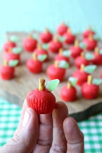 Cute Back to School fun food Idea! 3D Apple Sugar Cookies for the Teacher by Munchkin Munchies via LivingLocurto.com