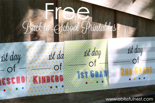 picture about First Day of 2nd Grade Printable Sign referred to as 1st Working day of Faculty Indications - Back again toward Higher education Cost-free Printables