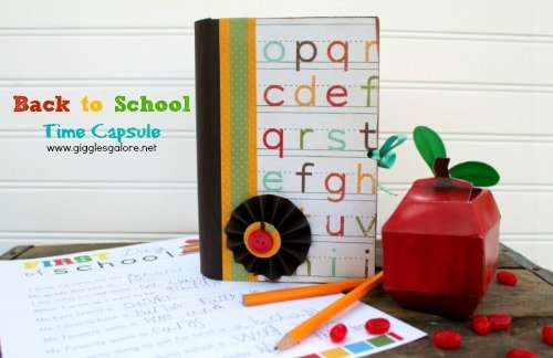 Back to School Time Capsule Craft by Giggles Galore. LivingLocurto.com