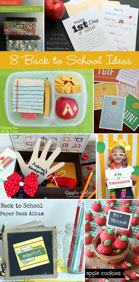 8 Great Back to School Ideas! livinglocurto.com