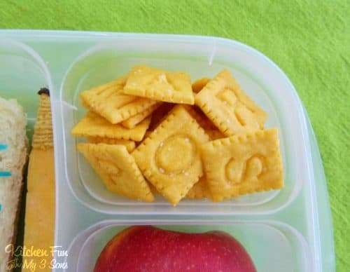 Back to School Sandwich! A Fun Food Bento Lunch by Jill from Kitchen Fun with my 3 Sons. LivingLocurto.com