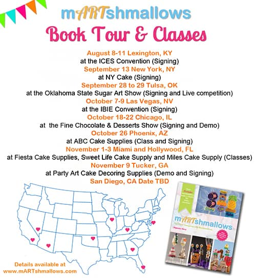 mARTshmallows Book Tour - Fun Food Ideas for Marshmallows by The Marshmallow Studio