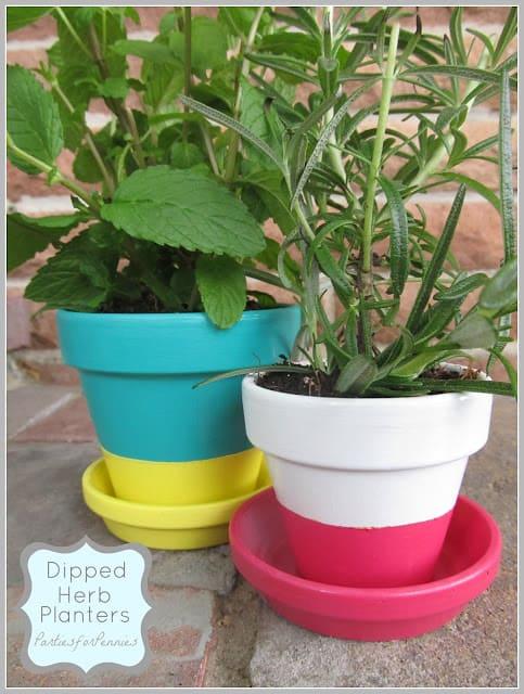 Dipped Paint Pots
