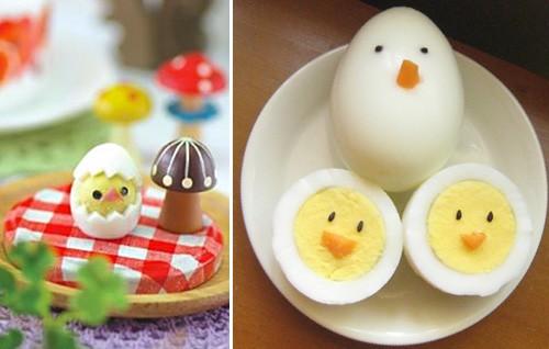Hardboiled Egg Chicks - Fun Food Ideas