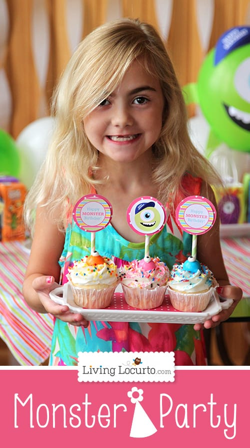 Monsters University Birthday Party Ideas with Free Party Printables for Boys and Girls by Amy Locurto. LivingLocurto.com