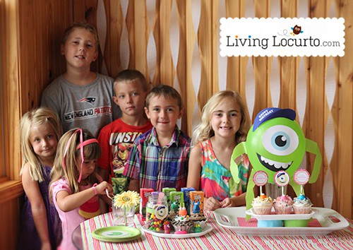 Monster University Party Ideas with Free Party Printables by Amy Locurto. LivingLocurto.com