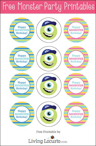 Monsters University Birthday Party {Free Printables ...