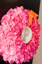 Tissue Paper Wreath Tutorial - A Blissful Nest
